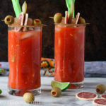 Ultimate Caesar Cocktail - a classic Canadian Cocktail made in under 5 minutes. It's spicy, delicious and has a snack built right in! - girlheartfood.com