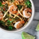 Chili Shrimp Pasta for One - an easy weeknight dinner made in about 15 minutes - girlheartfood.com
