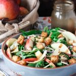 Apple and Gouda Mixed Green Salad - girlheartfood.com