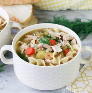 Chicken Noodle Soup - girlheartfood.com