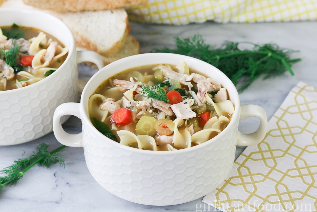 Chicken Noodle Soup - girlheartfood.com