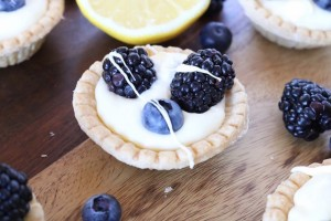 Lemon Cream Tarts with Berries - girlheartfood.com